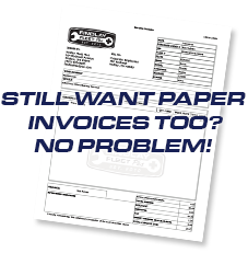 Still want paper invoices? We offer those as well.