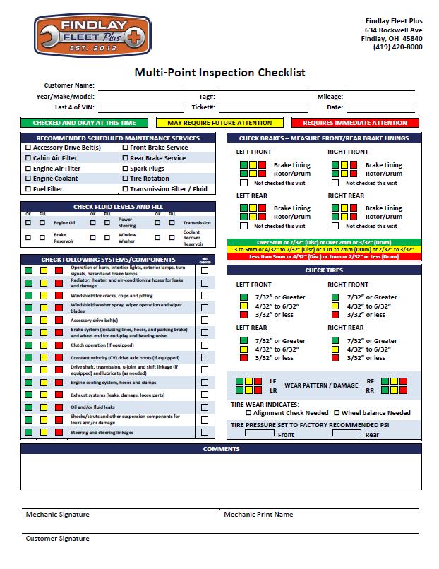 Vehicle Safety Checklist Vehicle Ideas